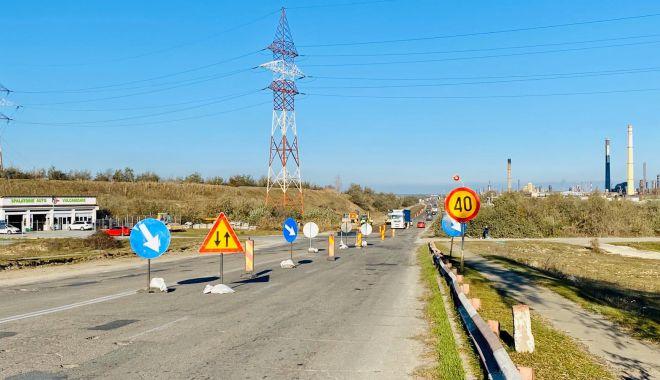 Foto: Primăria Năvodari modernizează drumul spre Corbu cu fonduri europene