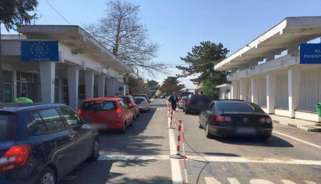 Foto: A scăzut traficul la punctele de trecere a frontierei din Constanța