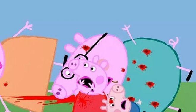 """Foto: Vă lăsaţi copiii să se uite la """"Purceluşa Peppa""""? Atenţie, mămici, unele episoade conţin scene de o violenţă extremă"""
