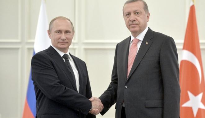 Foto: Vladimir Putin, întâlnire cu Recep Tayyip Erdogan