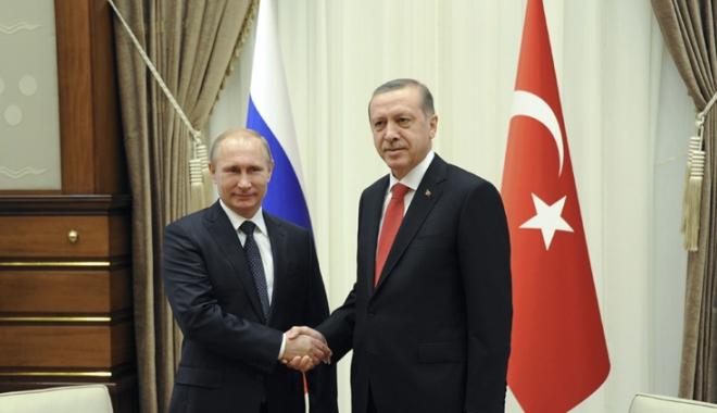 Foto: Putin şi Erdogan, discuţii telefonice despre situaţia  din Siria