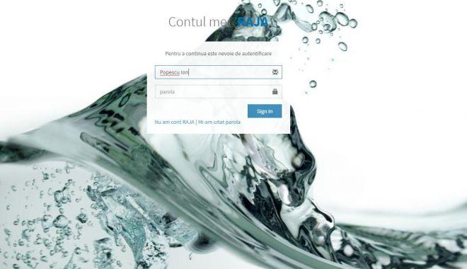 Foto: Cont online pentru verificarea şi plata facturii la apă