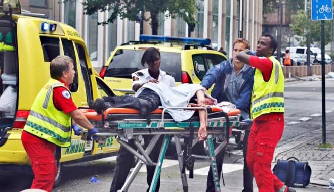 Foto: 22 de persoane rănite în atacurile din Norvegia sunt spitalizate în continuare