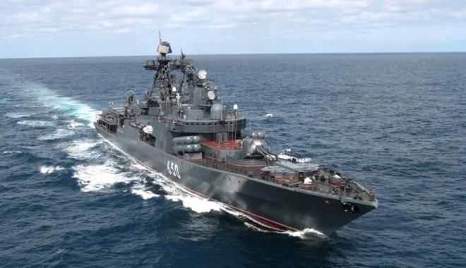 Foto: Răspunsul Rusiei la exerciţiile NATO din Marea Neagră: o navă cu muniţie  de război