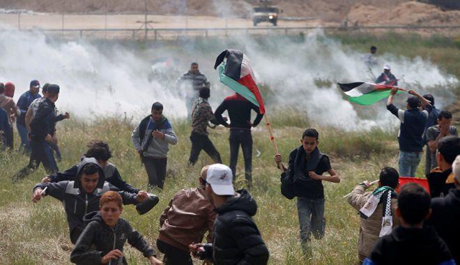 Foto: Răspunsul Israelului la manifestaţiile din Gaza, crime împotriva umanităţii?