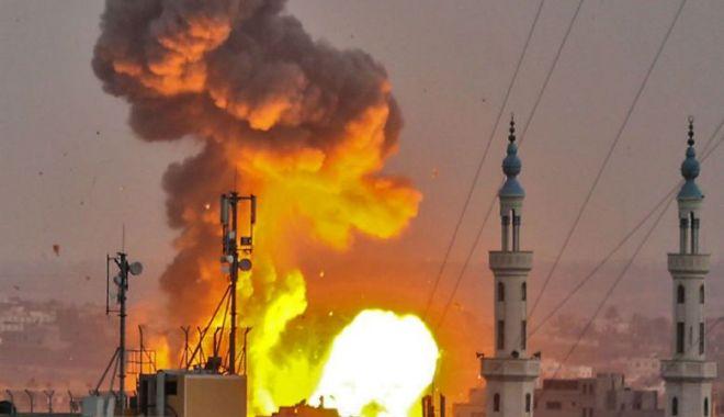 """Foto: Netanyahu: Am ordonat armatei să efectueze """"lovituri masive"""" în Fâșia Gaza"""