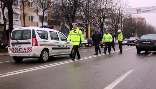 Foto: Tânăr prins fără permis, pe strada Solidarităţii din Constanţa