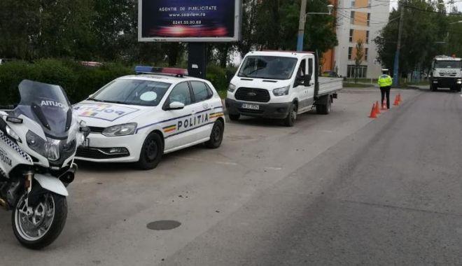 Foto: Razie în Constanţa. Vizaţi - şoferii fără centură de siguranţă, dar şi pietonii