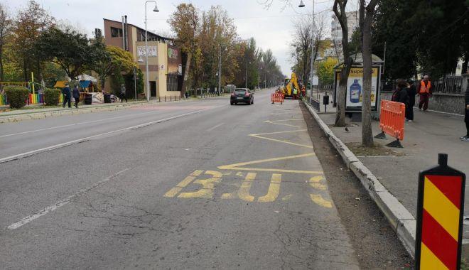 Foto: Șoferi, atenție la parcări! Lucrări de modernizare pe bulevardul Tomis