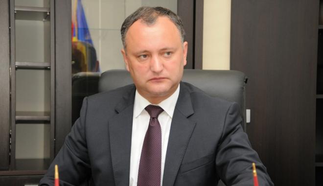 """Foto: Igor Dodon, mesaj către români: """"Nu acceptăm comentarii din exterior"""""""