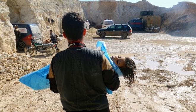 Foto: Reacţii dure, după masacrul chimic din Siria.