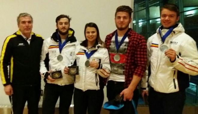 Foto: A doua medalie de argint pentru sănierii României, la Cupa Mondială