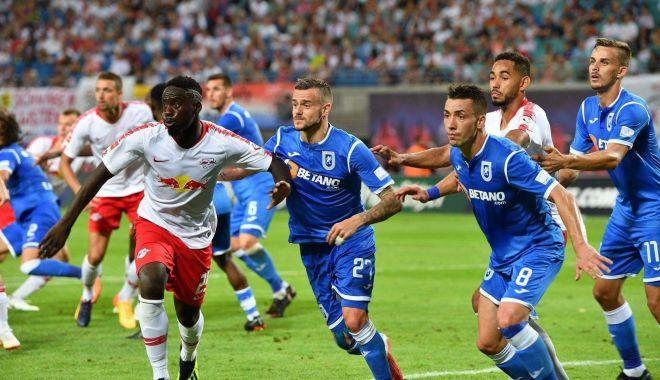 Foto: CSU Craiova, eliminată de RB Leipzig în turul trei preliminar din Europa League