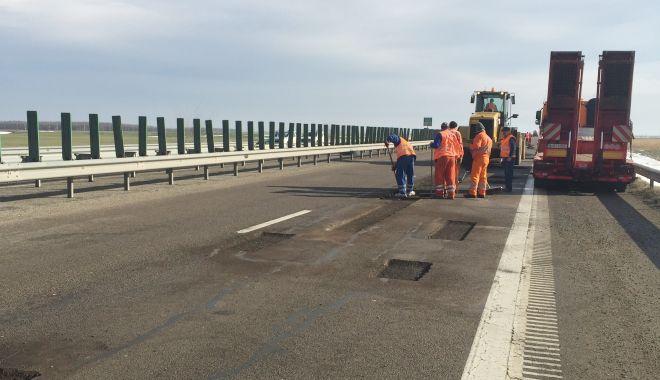 Foto: Restricții de circulație pe Autostrada Soarelui, din cauza unor lucrări