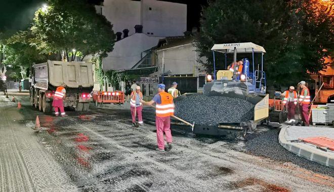 Foto: Restricții parțiale de circulație, la noapte, pe bulevardul Tomis