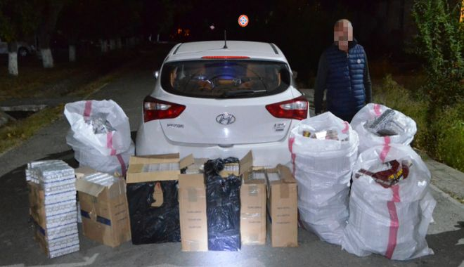 Foto: Reţea de contrabandişti  de ţigări, destructurată  de polițiștii de frontieră  din Constanţa