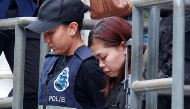 Foto: Riscă moartea prin spânzurare.  Suspectele de uciderea lui Kim Jong-Nam, puse sub acuzare