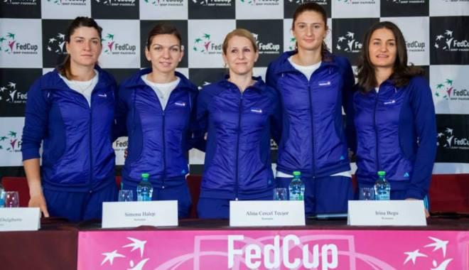 Foto: Fed Cup la tenis. România va întâlni Canada, în barajul pentru Grupa Mondială