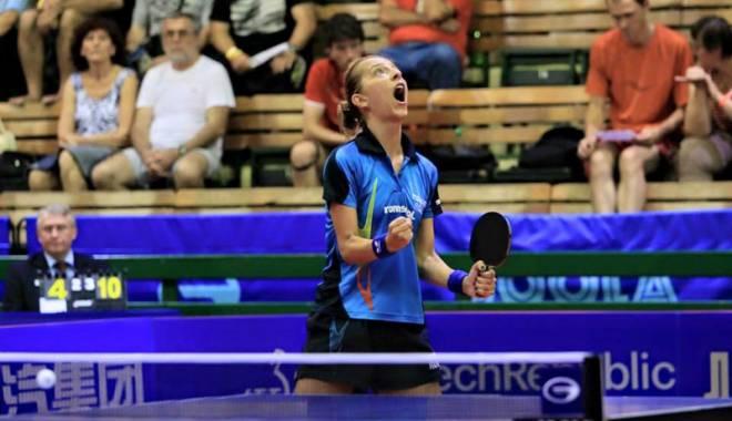 Foto: Eliza Samara, vicecampioană europeană la tenis de masă