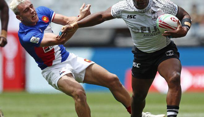 Foto: Fiji a învins Franţa, la rugby în şapte!