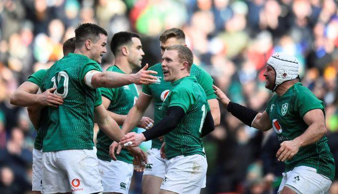 Foto: Irlanda învinge Franţa, în Turneul celor Şase Naţiuni, la rugby