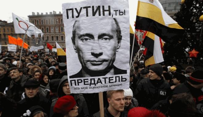 Foto: Proteste împotriva lui Putin. SUTE de oameni, arestați