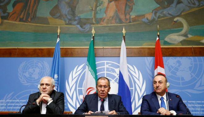 Foto: Rusia, Turcia și Iran susțin noua rundă de negocieri intersiriene de la Geneva