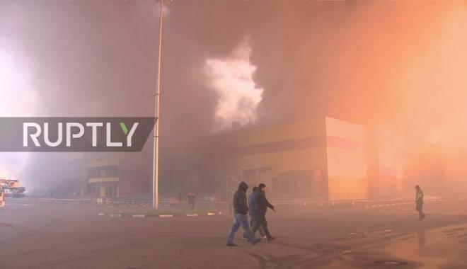 Foto: Rusia: Incendiu într-un centru comercial  de lângă Moscova