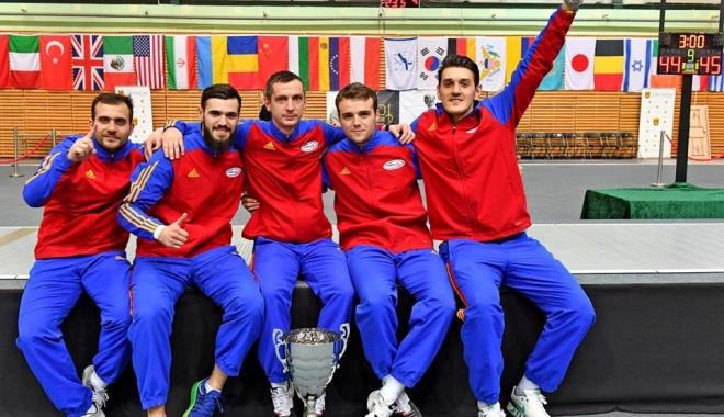 Foto: Victorie pentru naționala României de sabie, la Cupa Mondială din Polonia