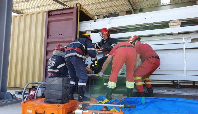 Foto: Accident de muncă la Medgidia. Poliția a deschis un dosar penal!