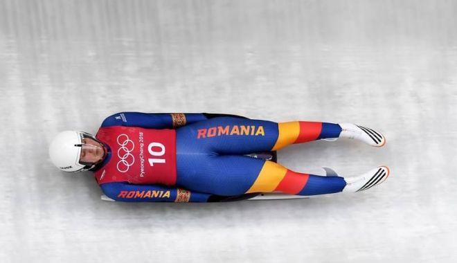 Foto: Echipajul României, locul 10 la sanie