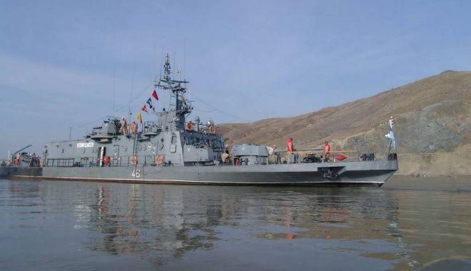 Foto: Șase nave militare fluviale, la Exercițiul Danube Protector