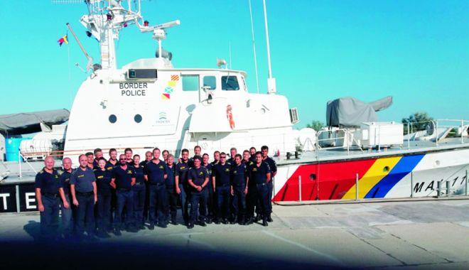 Foto: Schimb de ştafetă la Poliţia de Frontieră. Nava MAI 1102 supraveghează frontierele Europei