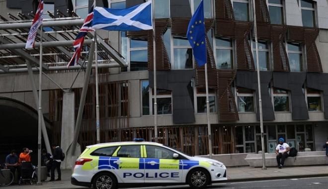 Foto: Panică la Edinburg: Parlamentul scoțian, evacuat