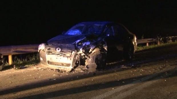 Foto: Localitate în beznă după un accident provocat de un şofer beat