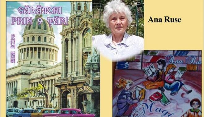 Foto: Scriitoarea Ana Ruse lansează două cărți