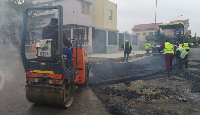 Foto: Confort Urban asfaltează strada Prelungirea Eduard Caudella