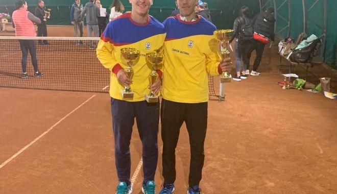 Foto: Tenismenul Sebastian Gima, dublu campion naţional la categoria U18