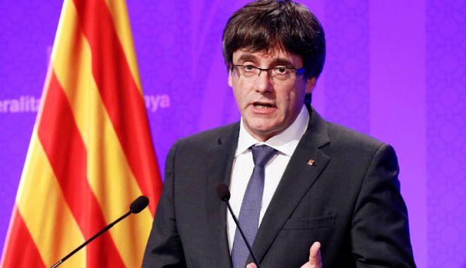 Foto: Secesioniştii catalani îl susţin din nou ca lider pe Carles Puigdemont