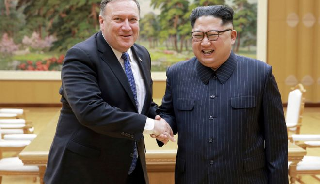 Foto: Secretarul de stat american Mike Pompeo  va vizita din nou Coreea de Nord