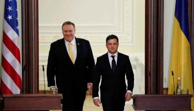 Foto: Secretarul de stat Mike Pompeo, vizită în Ucraina