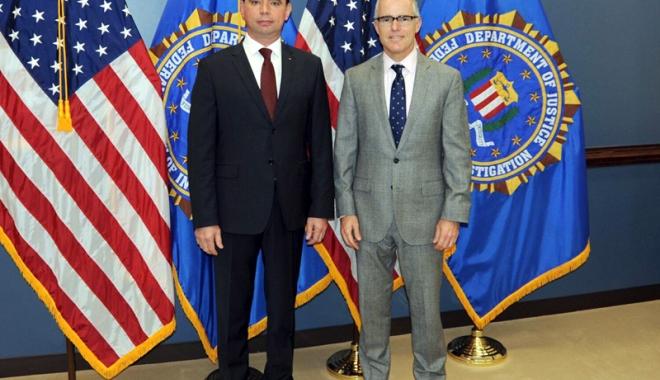 Foto: Şeful Poliţiei Române l-a vizitat pe directorul FBI, la Washington
