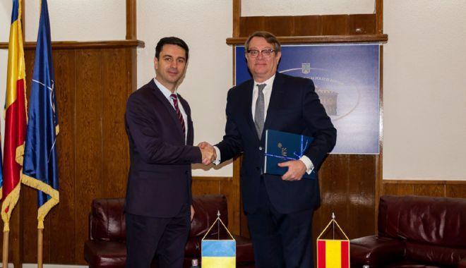 Foto: Şeful Poliţiei Române, întâlnire cu Ambasadorul Spaniei