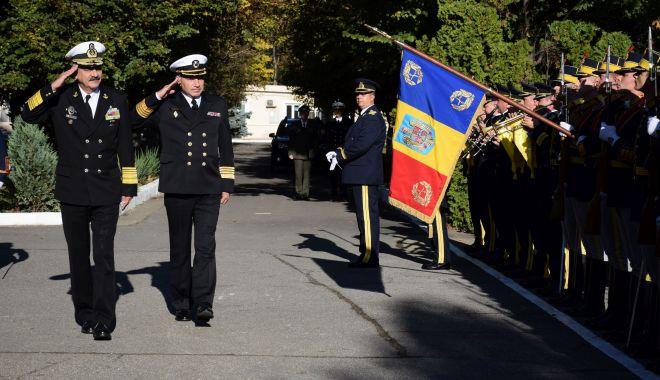 Foto: Șeful Forțelor Navale Ucrainene, în vizită la Academia Navală