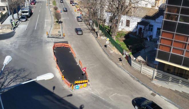 Foto: Autoritățile au amenajat un nou sens giratoriu în municipiul Constanta