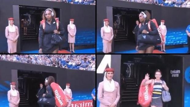 Foto: VIDEO. Când uiţi că nu mai eşti nr.1 mondial! Fază amuzantă cu Serena Williams, înaintea meciului cu Simona
