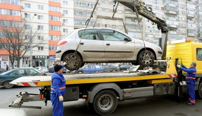 Foto: Jale mare printre șoferi! La Constanța SE RIDICĂ mașinile parcate neregulamentar