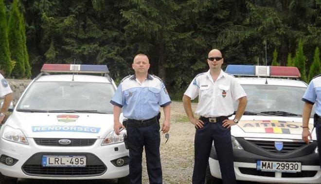 Foto: Se schimbă seriile de poliţişti cu misiuni în Bulgaria şi Ungaria