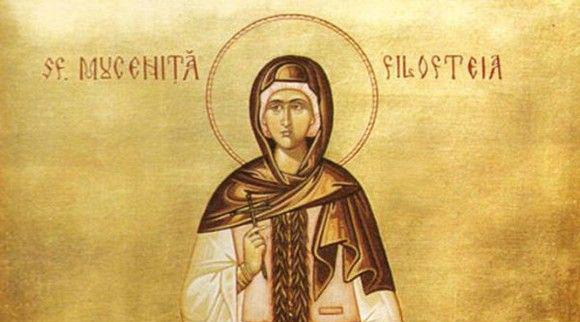 Foto: Credincioșii o cinstesc, sâmbătă, pe Sfânta Filofteia, iubitoarea de Dumnezeu