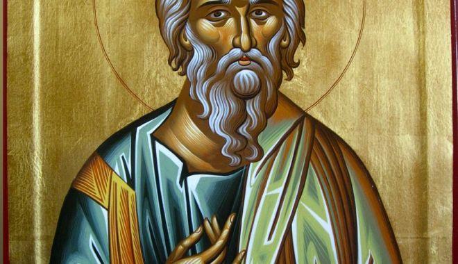Foto: Credincioșii îl sărbătoresc, sâmbătă, pe Sf. Apostol Andrei